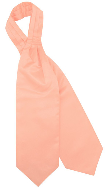Peach Cravat Tie | Vesuvio Napoli Mens Solid Color Ascot Cravat Tie