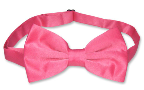 Mens Slim Fit Dress Vest BowTie Hot Pink Fuchsia Bow Tie Hanky Set