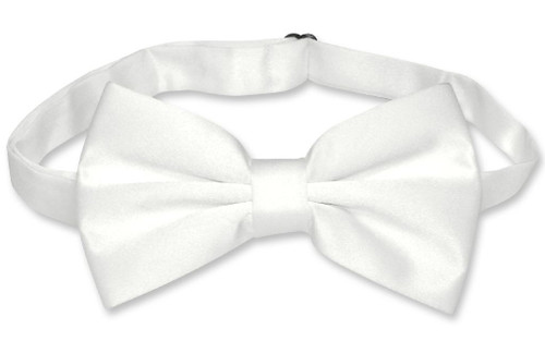 Mens Slim Fit Dress Vest BowTie White Bow Tie Handkerchief Set