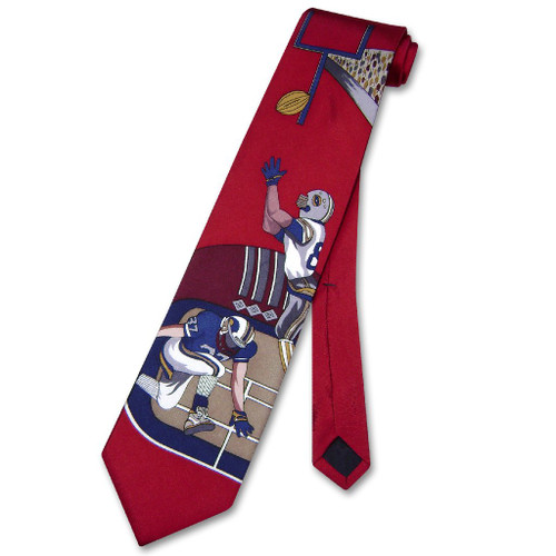 Papillon 100% Silk NeckTie Football Design Mens Neck Tie #124-1