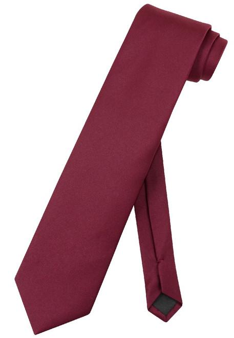 Extra Long Burgundy Tie | Solid Burguny Color XL NeckTie