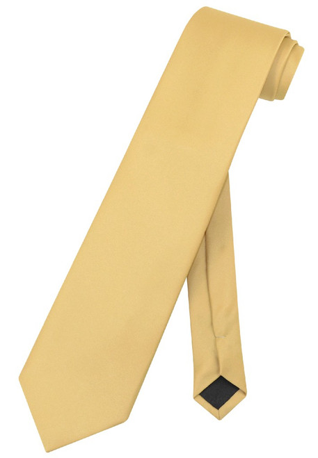 Extra Long Gold Tie | Solid Gold Color XL NeckTie