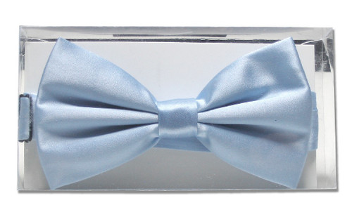 Solid Baby Blue Color Mens BowTie | Mens Silk Pre Tied Bow Ties