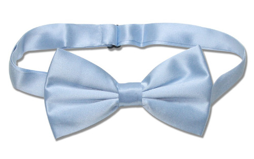 Solid Baby Blue Color Mens BowTie | Mens Silk Pre Tied Bow Ties