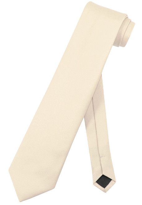 Extra Long Light Brown Tie | Solid Light Brown Color XL NeckTie