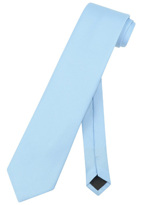 Extra Long Baby Blue Tie | Solid Baby Blue Color XL NeckTie