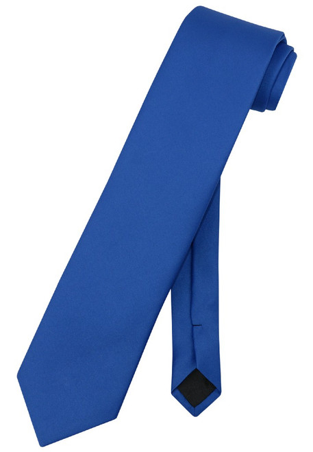 Extra Long Royal Blue Tie | Solid Royal Blue Color XL NeckTie