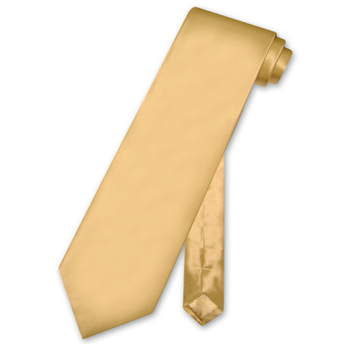 Biagio 100% Silk NeckTie Solid Gold Color Mens Neck Tie