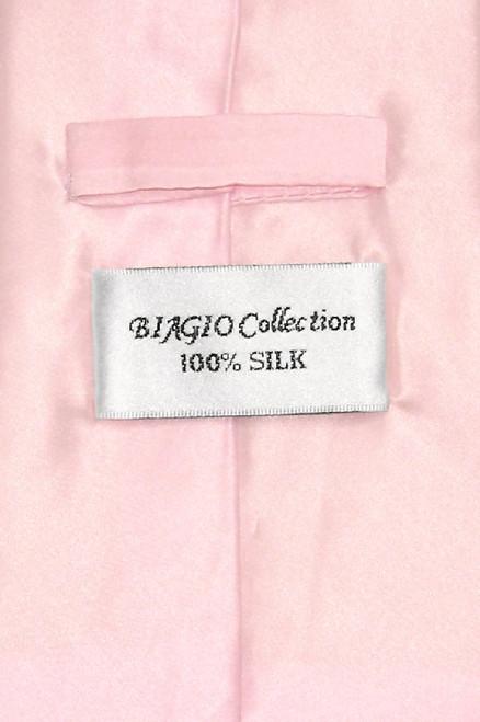 Biagio 100% Silk NeckTie Extra Long Light Pink Color Mens XL Neck Tie