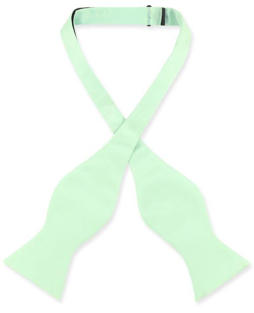 Laurel Green Self-Tie BowTie | Mens Self Tie Solid Color Bow Tie