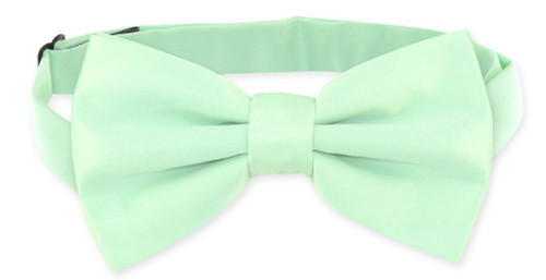 Laurel Green Color BowTie | Mens Pre-Tied Solid Color Bow Tie