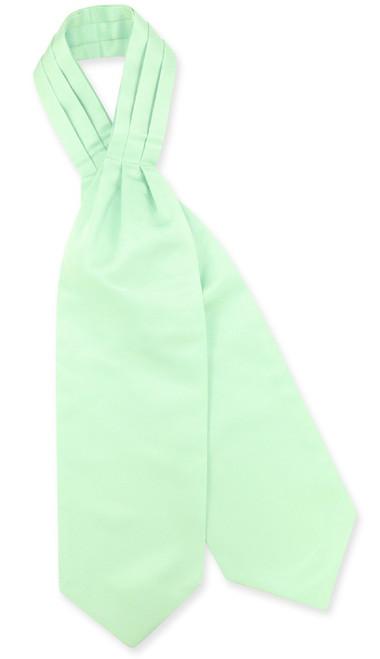 Laurel Green Cravat Tie | Vesuvio Napoli Mens Solid Color Ascot