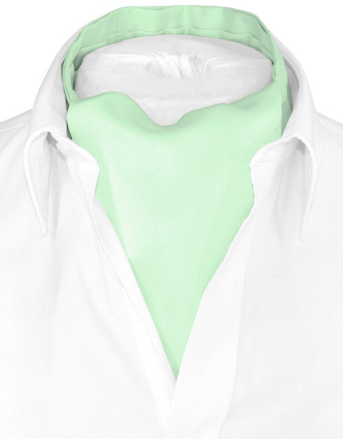 Laurel Green Cravat Tie | Vesuvio Napoli Mens Solid Color Ascot