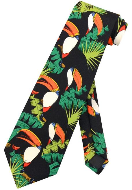 Toucan Birds NeckTie   Toucans in Trees Design Mens Neck Tie
