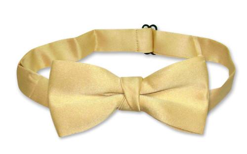 Covona Boys Bow Tie Solid Gold Color BowTie