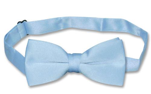 Covona Boys Bow Tie Solid Baby Blue Color BowTie