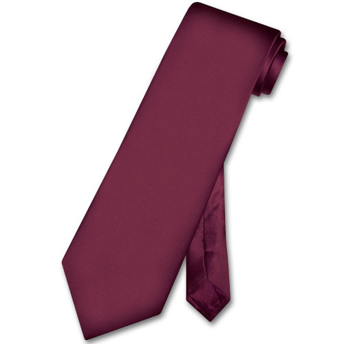 Biagio 100% Silk NeckTie Extra Long Eggplant Purple Mens Neck Tie