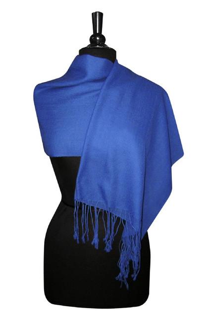 Royal Blue Pashmina | Biagio 100% Wool Pashmina Scarf