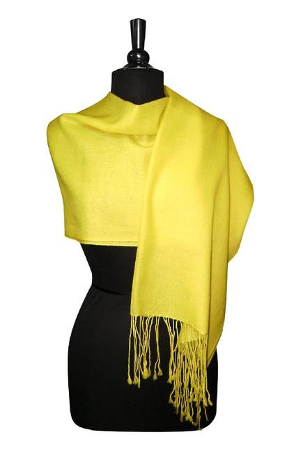 Yellow Pashmina   Biagio 100% Wool Pashmina Scarf