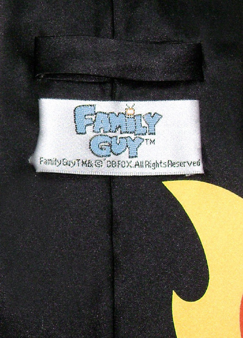 FAMILY GUY Silk Neck Tie Why Dont You Burn in Hell NeckTie