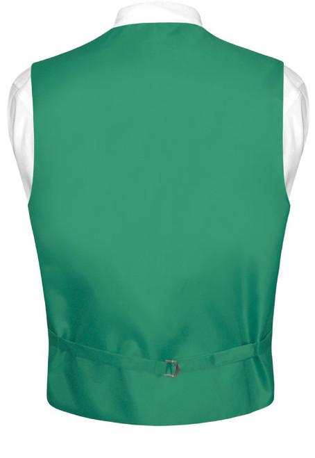 Emerald Green Vest And Neck Tie | Mens Formal Dress Vest & Tie Set