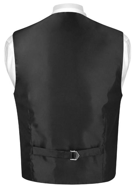 Boys Dress Vest Bow Tie Solid Chocolate Brown Color BowTie Set