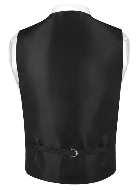Slim Fit Burgundy Vest | Mens Solid Color Dress Vest Tie Hanky Set