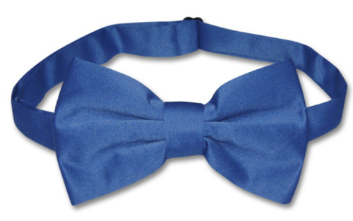 Mens Slim Fit Vest BowTie Royal Blue Bow Tie Handkerchief Set