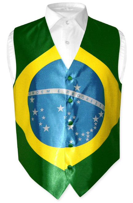 Brazilian Flag Vest | Mens Covona Brazilian Flag Vest