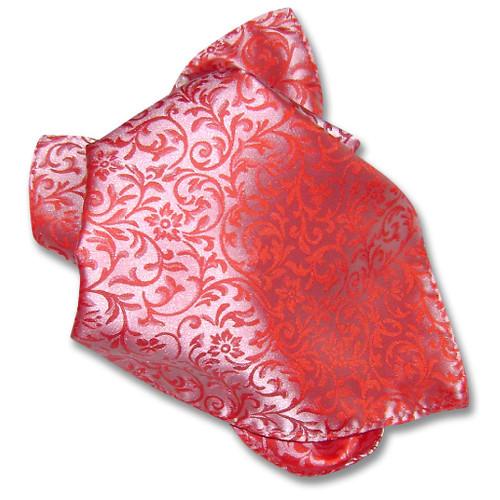 Antonio Ricci Mens Paisley Dress Vest Bow Tie Red BowTie Set sz XL