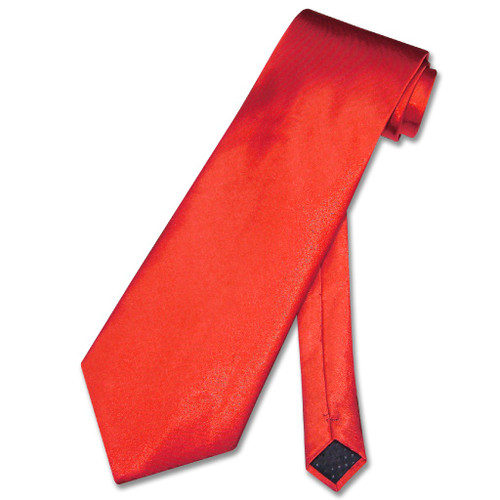 Solid Red Tie | Mens Covona Solid Rose Red Color Necktie