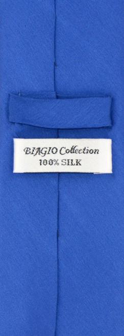 a4f8e9a70a4bb Biagio 100% Silk Skinny NeckTie Royal Blue Mens 2.5