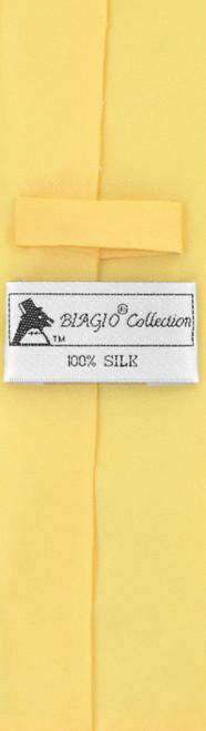 Gold Color Skinny Tie Handkerchief Set | Silk Necktie Hanky Set