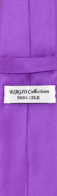 Purple Indigo Skinny Tie Handkerchief Set | Silk NeckTie Hanky Set