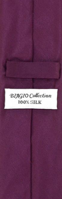 Mens Eggplant Purple Skinny Tie Hanky Set | Silk Necktie Hanky Set