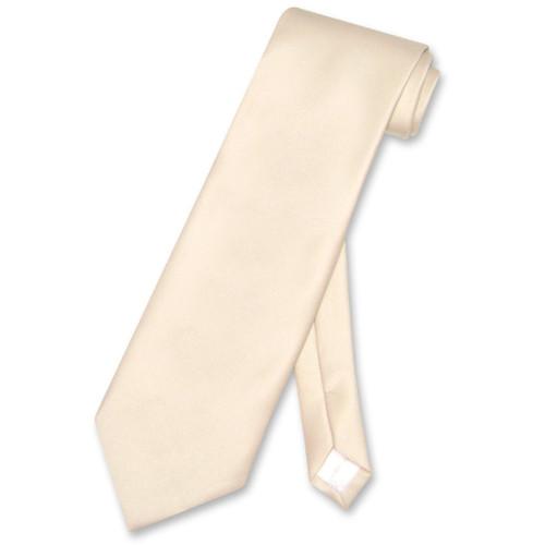 Light Brown Mens NeckTie   Vesuvio Napoli Solid Color Mens Neck Tie