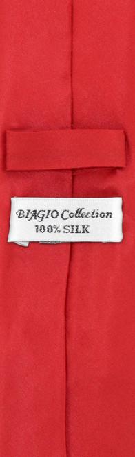 Mens Red Skinny Tie Handkerchief Set   Silk Necktie Hanky Set