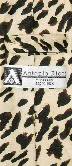 Boys LEOPARD Animal Skin Print Design Neck Tie 100% Silk NeckTie