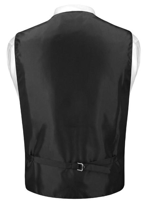 Mens Dress Vest Skinny NeckTie Solid Charcoal Grey Neck Tie Set