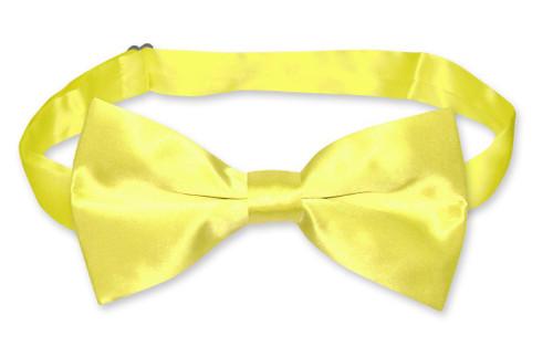 Yellow Color Mens Bowtie   Biagio Silk Pre Tied Solid Color Bow Tie
