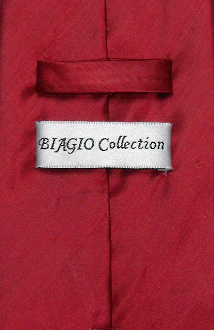 Dark Red Dress Vest | Biagio Mens Bamboo Silk Dress Vest & NeckTie