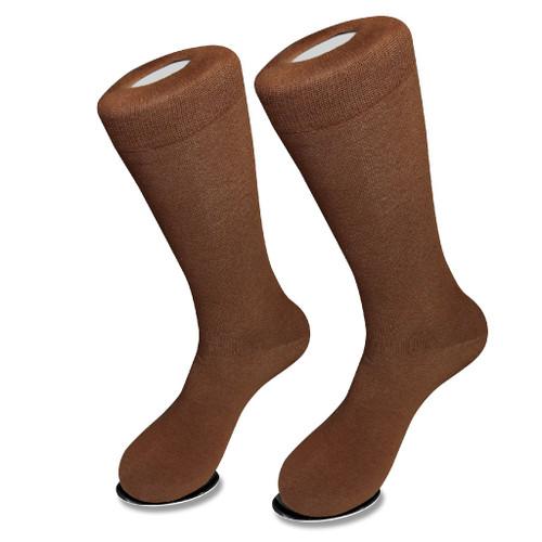 Cognac Brown Mens Socks | 1 Pair Of Biagio Cotton Dress Socks