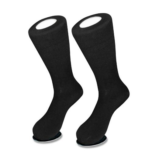 Solid Black Color Mens Socks | 1 Pair of Biagio Cotton Dress Socks