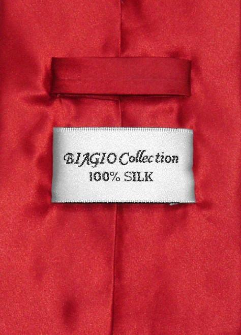 Biagio 100% Silk NeckTie Extra Long Rose Red Color Mens XL Neck Tie