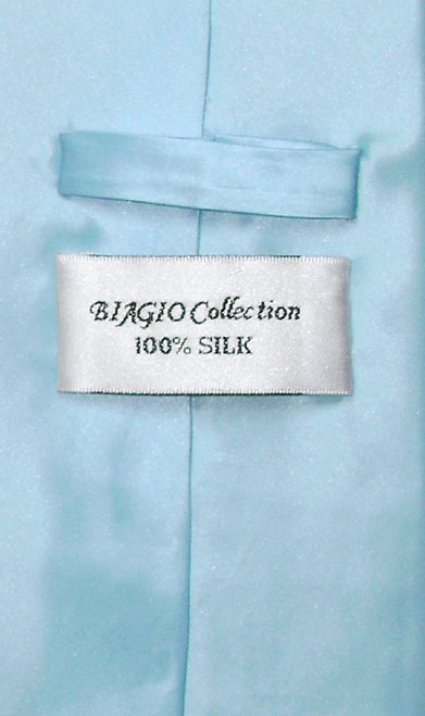 Extra Long Mens Silk Ties | Mens Extra Long Baby Blue Necktie
