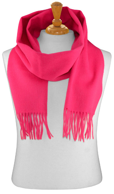 Hot Pink Fuchsia Wool Neck Scarf   Biagio 100% Wool Neck Scarve