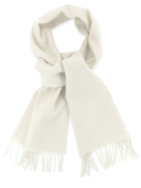 Cream Color Wool Neck Scarf | Biagio Brand All Wool Neck Scarve
