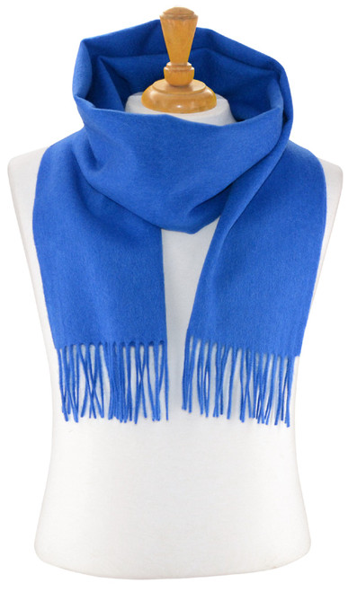 Royal Blue Color Wool Neck Scarf | Biagio 100% Wool Neck Scarve