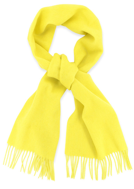 Golden Yellow All Wool Neck Scarf | Biagio 100% Wool Neck Scarve