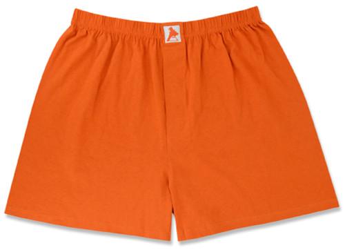 100% Knit Cotton Boxer Shorts   Biagio Dark Burnt Orange Boxers
